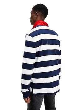 Polo Hombre Tommy Jeans Longsleeve Stripe Polo Navy/Multi