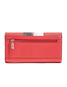 Cartera Mujer Guess Katey Slg Pocket Trifold Red Multi