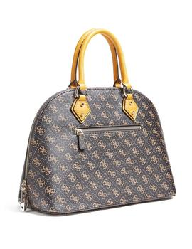 Bolso Mujer Guess Jensen Large Dome Satchel Brown