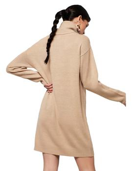 Vestido Mujer Rut And Circle Emily Knit Beige