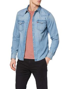 Camisa Hombre Levis Barstow Western Standard Red