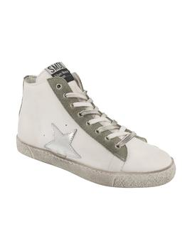 ZAPATILLA HIGH BLANCO PLATA