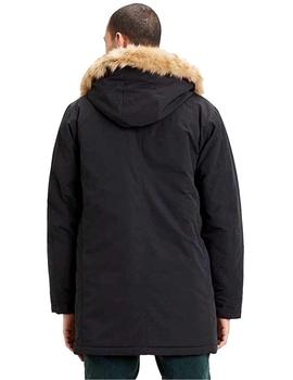 Parka Hombre Levis Woodside Long Utlty Jet Black