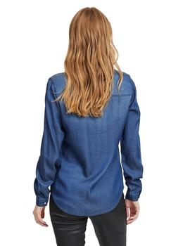 Camisa Mujer Vila Vibista Denim Noos Dark Blue Denim