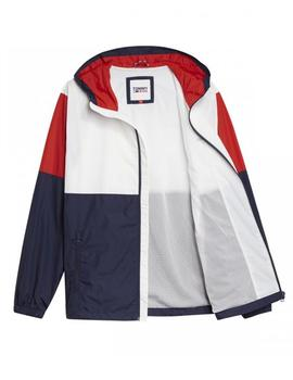 Chaqueta Hombre Tommy Jeans Colorbock Windbreeaker Blanco