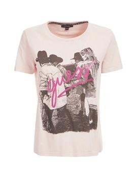 Camiseta Mujer Guess Ss Cn Paula Acid Blush Dreams