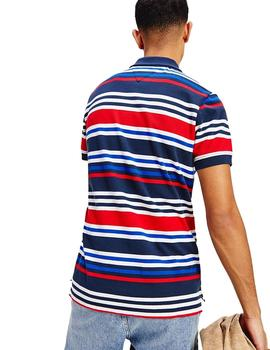Polo Hombre Tommy Jeans Seasonal Stripe Multi