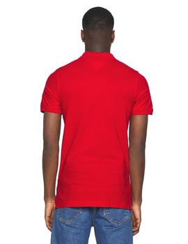 Polo Hombre Tommy Jeans Original Fine Pique Crimson