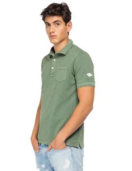 Polo Hombre Replay Pique Verde
