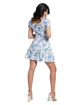 Vestido Mujer Guess Robin Anthurium Blue Flower