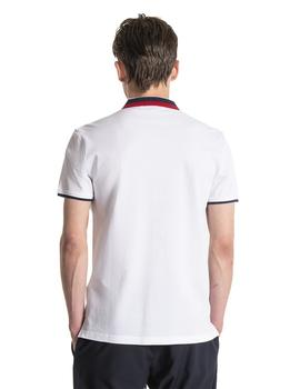 Polo Hombre Antony Morato Slim Fit Pique Blanco