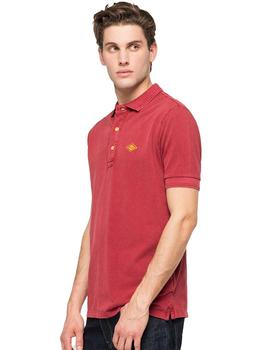 Polo Hombre Replay Pique Granate