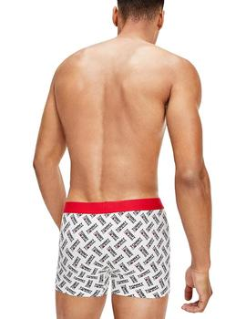 Calzoncillos Hombre Tommy Jeans Trunk Print Blanco Letras