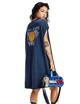 Vestido Mujer Tommy Jeans Basketball Tee Navy