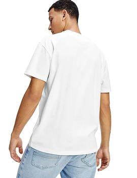 Camiseta Hombre Tommy Jeans Faded Color Graphic Tee White