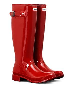Bota Hunter Original Tall Gloss Roja