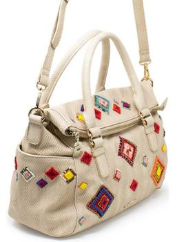 Desigual Bolso Mujer. Modelo Diamond Loverty Beige