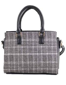 Fashion For Time Bolso Mujer Cuadros Gris Negro