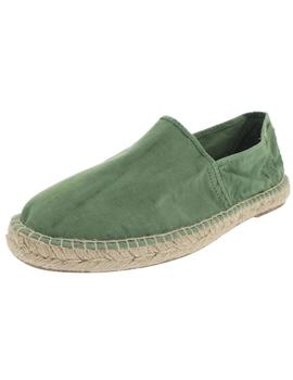 Natural World Alpargatas Hombre Yute Verde
