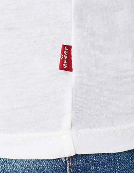 Levis Camiseta Mujer The Perfect New Red Box Blanc