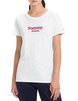 Tommy Jeans Camiseta Mujer Tjw Flag Detail