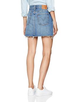 Levis Falda Mujer Deconstructed Middle Man Azul