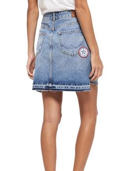 Superdry Denim Mini Skirt G72001KQ Azul