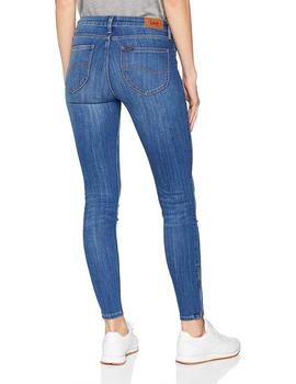 Lee Vaquero Mujer Scarlett Cropped Skinny Azul