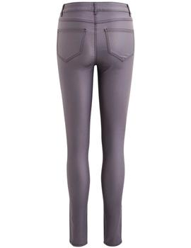 Vila Pantalones Mujer Vicommit Rw New Coated Gris