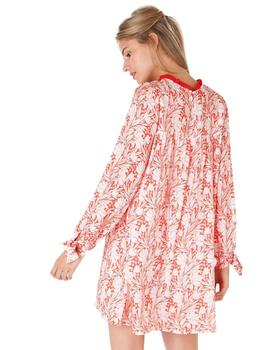 Maggie Sweet Vestido Mujer Cannes Flores Rojo