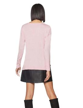 Edc By Esprit Jersey Mujer C Pico Rosa