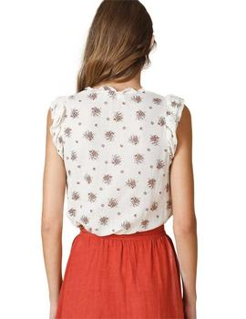 Indi And Cold Mujer Estampado Floral Beige